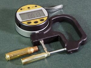Tube-thickness-micrometer-for-cartridge-case-neck-measurements