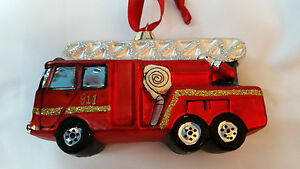 Pottery Barn Kids Red Fire Truck Christmas Ornament