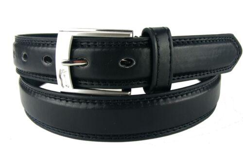 Herrengürtel Damengürtel schwarz Naht schmal 2,5 cm Jeansgürtel HRG22F