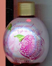 (100 ml = 2,50 €) Avon - Bubble Bath Schaumbad Pfingstrose und Granatapfel