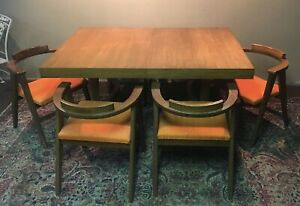 Mid Century Modern Abstract Dining Set 6 Chairs Ebay