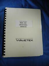Wavetek Model 2001 Sweepsignal Generator Instruction Manual Free Shipping