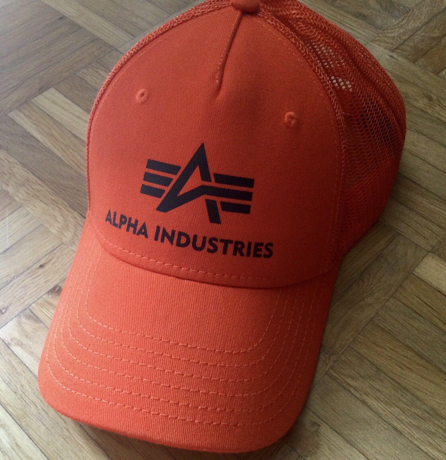 Alpha Industries Trucker Cap Orange