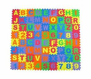 Alphabet Letters and Numbers Foam Puzzle Square Floor Mat 6x6-I... Free Shipping