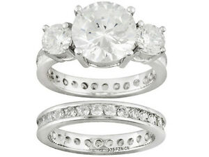 feabee9f32fc6 Details about NEW JTV Bella Luce 6.06ctw Round Rhodium Pltd Sterling Silver  Ring W/ Band SZ 10