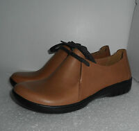 Clarks Ladies Un Rustle Tan Leather Lace Up Shoes Size 3,5,5.5,6,6.5,7,7.5,8,9