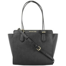 Michael Kors Dee Dee Medium Tote Black Leather Ladies Handbag 30F6GTWT8L001