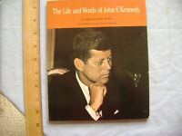 The Life and Words of John F. Kennedy. 1965 1st. Scholastic Book Services.