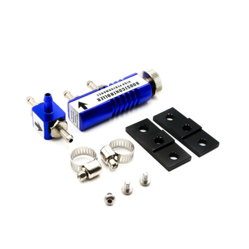 Blue Universal Adjustable Manual Turbo Boost Controller Kit 1-30 PSI In-Cabin
