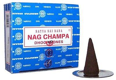 Nag Champa Incense Cones Satya Super Hit Goloka Rose  Buy 3 get 1 free (ADD 4(