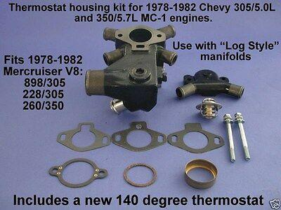 MerCruiser V6 V8 305 350 Thermostat Stat Housing Cover 47441A1 Sierra 18-1977-1