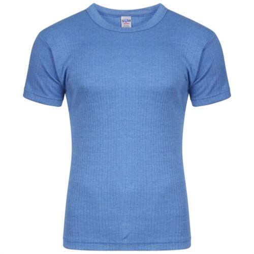 Pack of 5 Socks Uwear Mens Thermal Short Sleeve T Shirt Vest