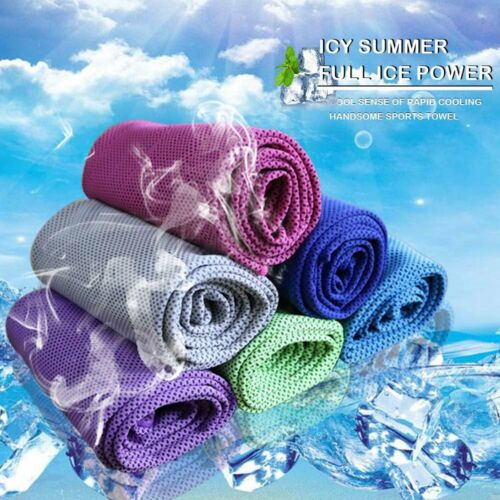 Cooling Towel Instant Chilling Cold Neck wicking Wrap Scarf for Running /&Jogging