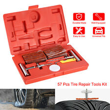 57pcs Tire Repair Tool Kit Heavy Duty Flat Tire Repair Tool Plug Patch Car Truck
