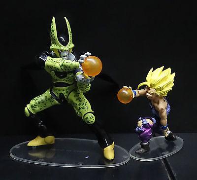 "LOT 2 DragonBall Z BZD cell ss goku PVC Statue figure 4"" -7"" N8"
