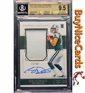 2018-Sam-Darnold-National-Treasures-RC-Rookie-Patch-Auto-99-BGS-9-5-9