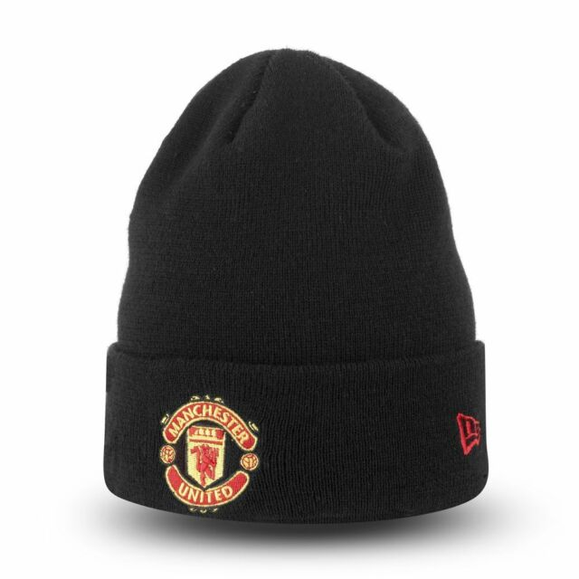 b68c2496ee2 Manchester United New Era Black Essential Cuff Knit -New w Tags-Top Quality