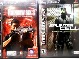 Rainbow Six 3 and Splinter Cell (Playstation 2, PS2) Complete MINT