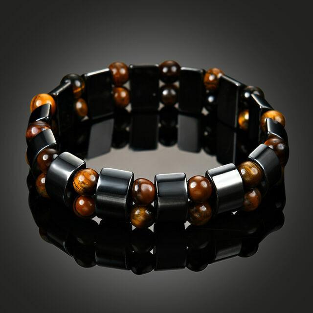LZD Magnetic Hematite Bracelet Pain Relief Energy Powerfull Elastic G4