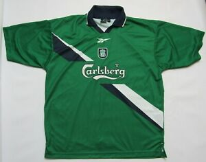 c1b5f64b5b8 FC LIVERPOOL The Reds away shirt jersey Reebok 1999-2000 trikot ...