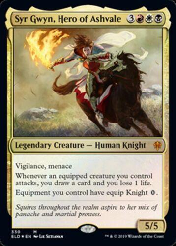 NM//M M MTG Magic - Throne of Eldraine Hero of Ashvale FOIL Syr Gwyn