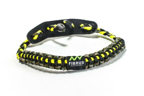 Paracord Bow Wrist Sling Leather Yoke Archery Shooting Many Color Options!