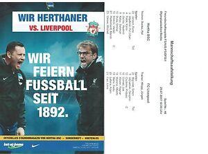 Programm-Aufstellung-Friendly-29-7-2017-Hertha-BSC-Berlin-Liverpool-FC