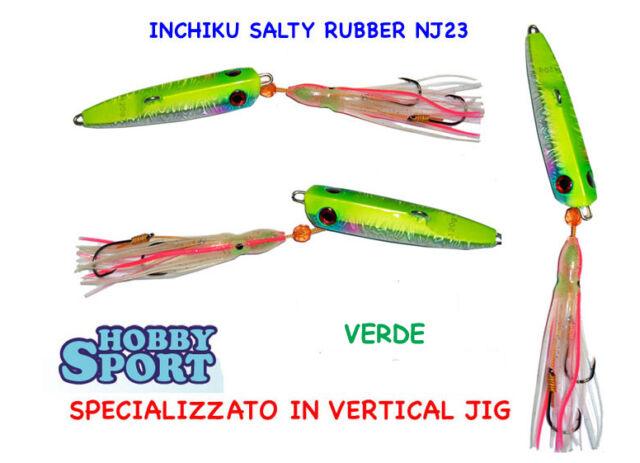 INCHIKU  JIG SALTY RUBBER VINCENT NJ 23 80 GR VERDE