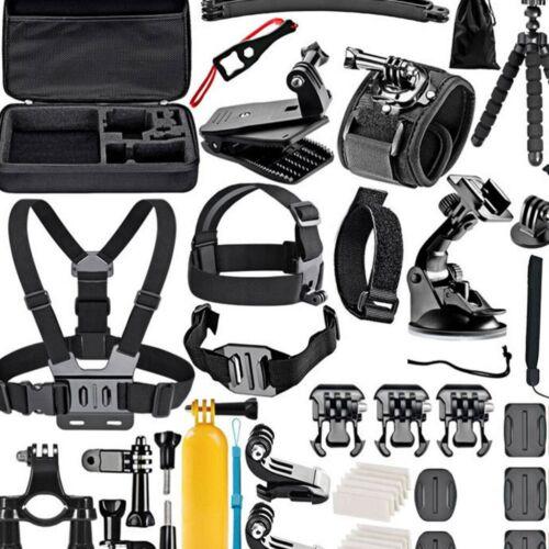 50 Stück Action Kamera Zubehör Set Für Go Pro Hero 8 7 6 Session Black Sport