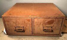 Vintage Steelmaster 2 Drawer Metal File Index Card Cabinet Dusty Rose