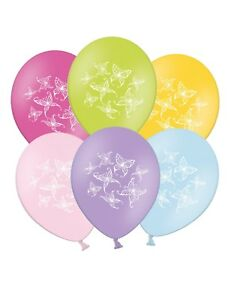Butterflies-12-034-Printed-Latex-Balloons-Assorted-pack-of-5-Summer-Spring