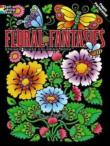 dover stained glass coloring book floral fantasies stained glass coloring book by maggie swanson 2013 paperback - Stained Glass Coloring Book