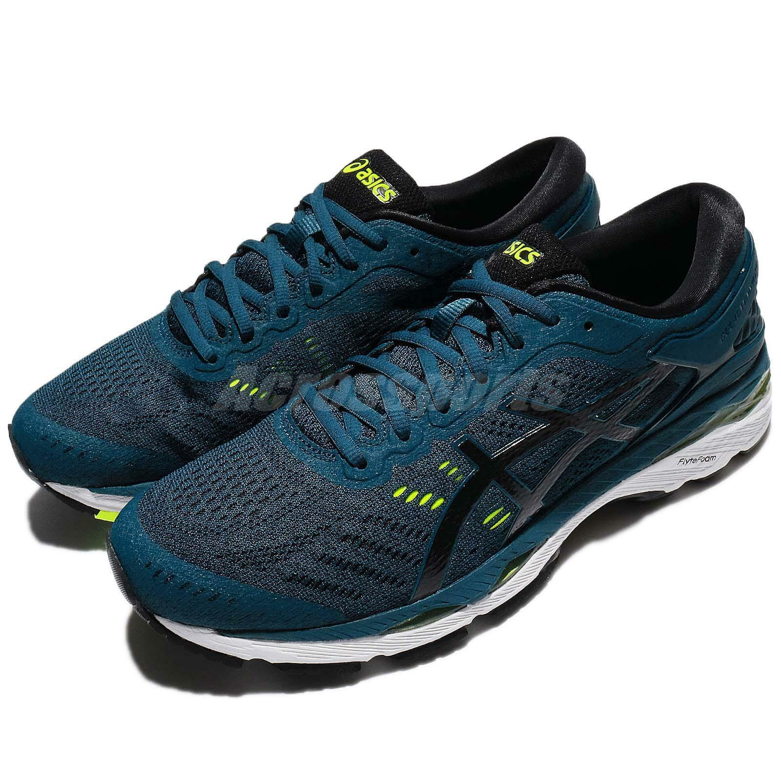 Asics Gel-Kayano 24 Ink azul negro amarillo Men Running zapatos zapatillas T749N-4590