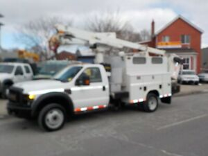 2008 FORD F550 SERVICE BOX WITH ALTEC  BUCKET
