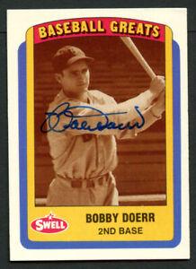Bobby Doerr #96 signed autograph auto 1990 Swell Baseball Greats Trading Card