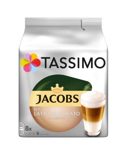 Tassimo Jacobs Latte Macchiato Pod Capsule T-Disc 4 or 8 Cups Taster Loose Pack