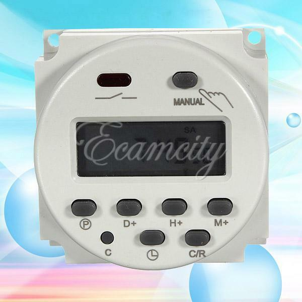 New AC 220V 16A LCD Display Digital Power Programmable Timer Time Relay Switch