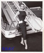 Gloria De Haven leggy VINTAGE Photo candid La Guardia Airport