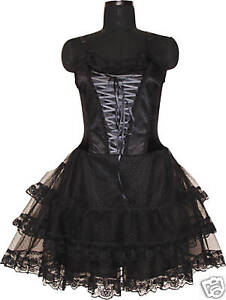 Custom Made Goth Vamp Corset Mini Dress Victorian Prom Party 1528 US ...