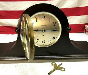 VINTAGE-Beautiful-1900S-SETH-THOMAS-MANTLE-CLOCK-completely-cleaned-amp-lubricated
