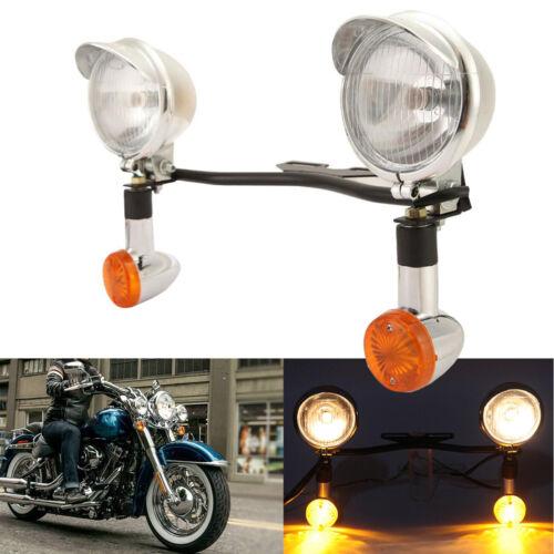 Passing Turn Signal Light Bar Fit For Yamaha Road Star XV 1600 1700 Silverado US