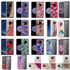 For Samsung Galaxy S9 /S9 PLUS Liquid Glitter Quicksand Case Phone Cover