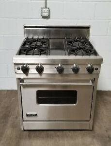 30 gas range ge profile image is loading proseriesviking30inchfreestandinggasrange pro series viking 30 inch freestanding gas range model vgsc3054bdss