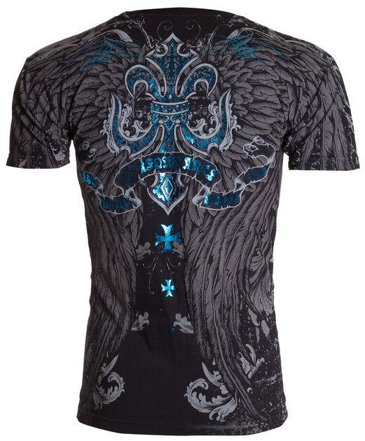 Xtreme Couture AFFLICTION Men T-Shirt SANDSTONE Wings Tattoo Biker UFC M-4XL $40