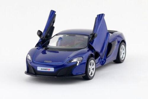 Blue 1:36 Scale McLaren 650s Sports Car Diecast model Pullback 1//36