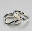 Coppia-anello-Fedi-Fedine-Fidanzamento-Cuore-Spezzato-acciaio-incisioni-charms miniatura 6