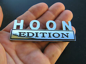 HOON-EDITION-CAR-BADGE-Chrome-Metal-Emblem-NEW-suit-HOLDEN-COMMODORE-etc