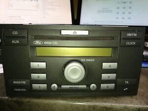 Ford-6000-CD-Autoradio-mit-Bedienungsanleitung-und-Code