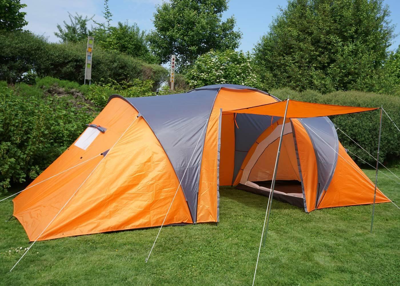 Campingzelt Loksa, 6-Mann Kuppelzelt Igluzelt Festival-Zelt, 6 Personen Orange