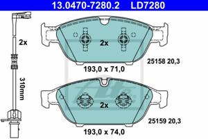 ATE 13.0470-7280.2 Bremsbelagsatz Scheibenbremse ATE Ceramic
